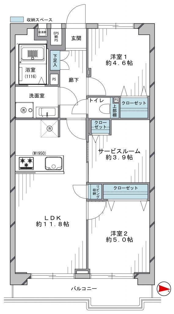 【辰巳駅徒歩9分!!】トーア辰巳マンションの物件写真03