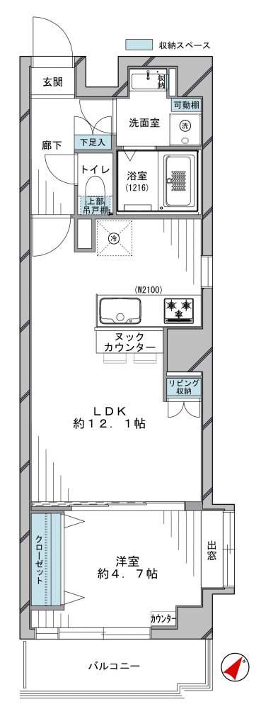 【最上階角部屋‼】日本橋アムフラットの物件写真02