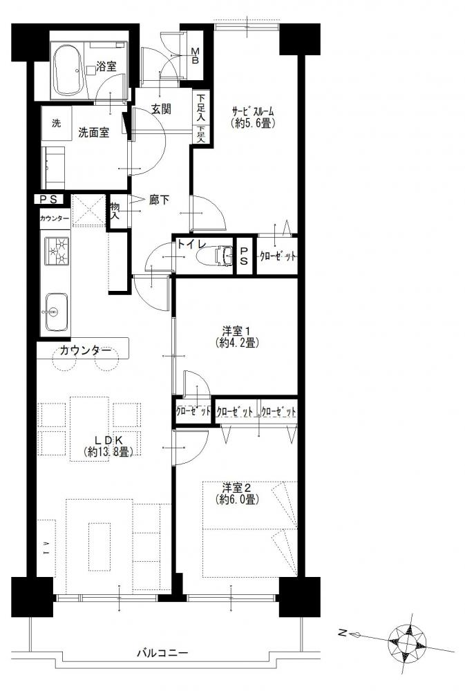 【周辺に生活利便施設多数】東大島ファミールハイツ1号館の物件写真07